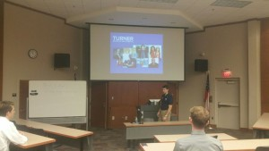 Nick LeVan talking to students about future opportunities at Turner Broadcasting (Photo by Emily Elmore)