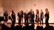 """The UNG Vocal Jazz Ensemble sings """"Their Hearts Were Full of Spring"""" at their concert on Friday night. (Photo by Rachel Ayers)"""
